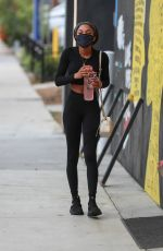 TEALA DUNN Leaves Dogpound Gym in West Hollywood 04/13/2021