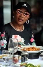 VIVICA A FOX Out for Lunch at Via Alloro Italian Restaurant in Beverly Hills 04/23/2021