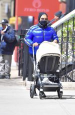 YOLANDA HADID Out with Granddaughter Khai in New York 04/22/2021