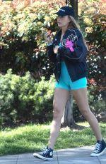 ZARA MCDERMOTT Out Jogging in London 04/19/2021