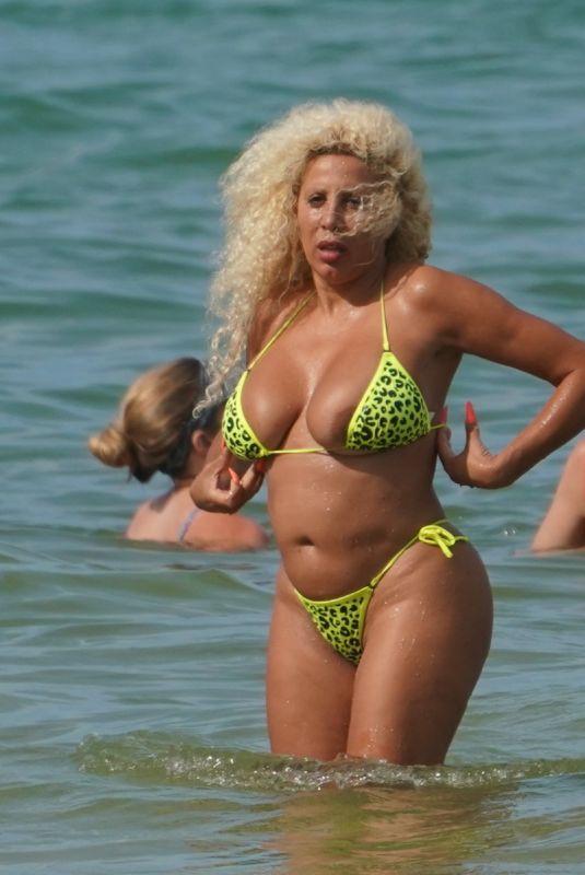 AFIDA TURNER in Bikini at a Beach in Miami 05/30/2021