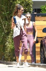 ALESSANDRA AMBROSIO and LUDI DELFINO Leaves Pilates Class in West Hollywood 05/04/2021