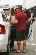 ALESSANDRA AMBROSIO and Richard Lee Out Kissing at LAX in Los Angeles 05/12/2021
