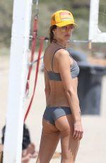 ALESSANDRA AMBROSIO in Bikini Playing Volleyball at a Beach in Santa Monica 05/08/2021