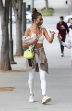 ALESSANDRA AMBROSIO Leaves Pilates Class in Los Angeles 05/10/2021