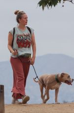 ALICIA SILVERSTONE Out Hikinig with Her Dog in Hollywood Hills 05/16/2021