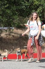 ALICIA SILVERSTONE Out with Her Dogs in Los Angeles 05/03/2021