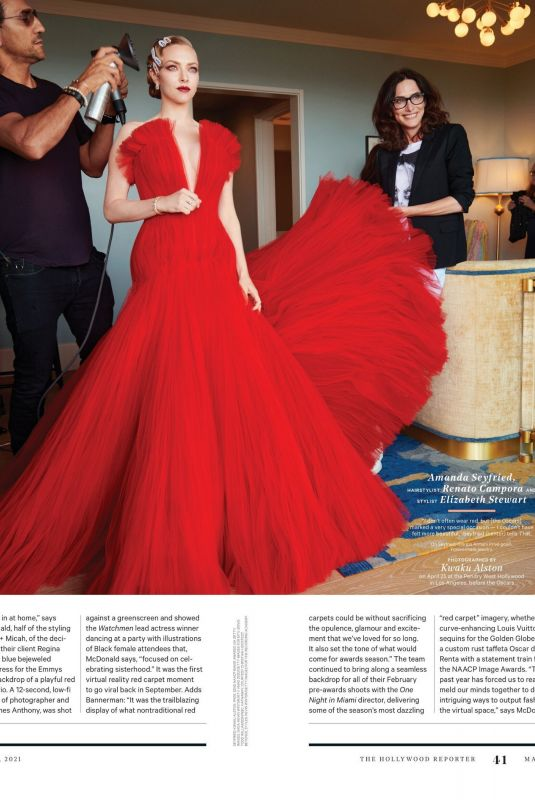 AMANDA SEYFRIED in The Hollywood Reporter, May 2021