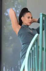 AMANZA SMITH on the Set of Selling Sunset, Season 4 in West Hollywood 05/20/2021