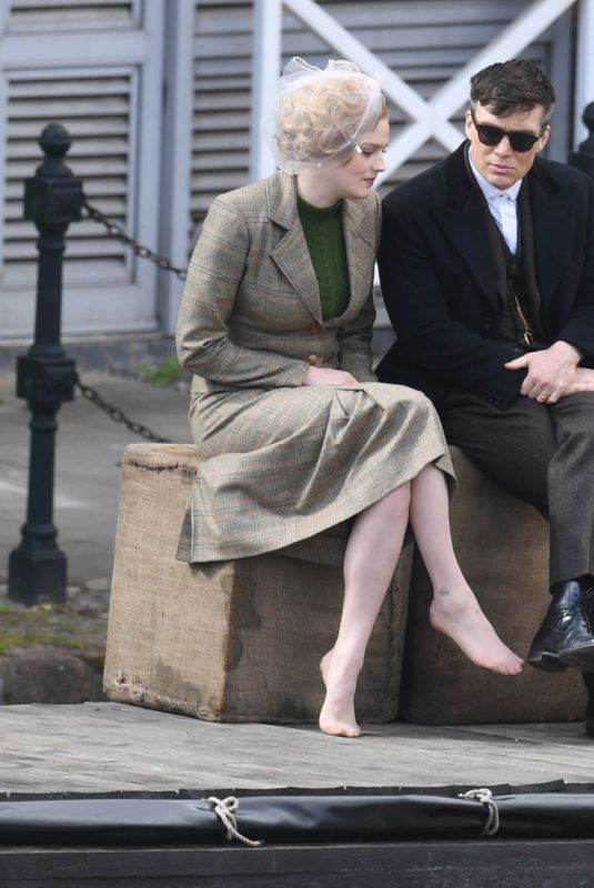 AMBER ANDERSON on the Set of Peaky Blinders in Manchester 05/05/2021