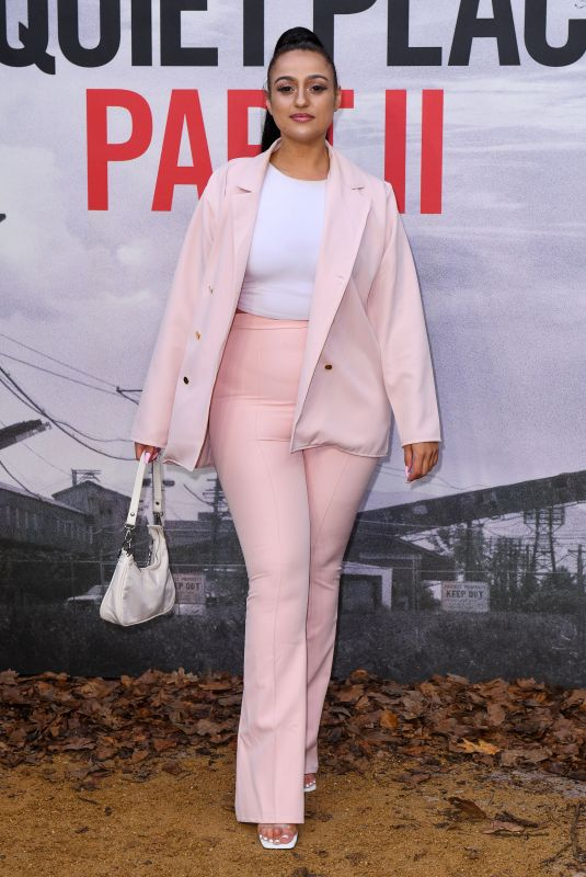 AMEL RACHEDI at A Quiet Place, Part 2 Screening in London 05/20/2021