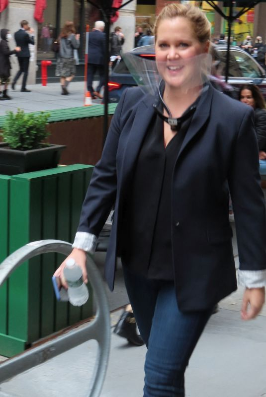 AMY SCHUMER on the Set of Life & Beth in New York 05/10/2021