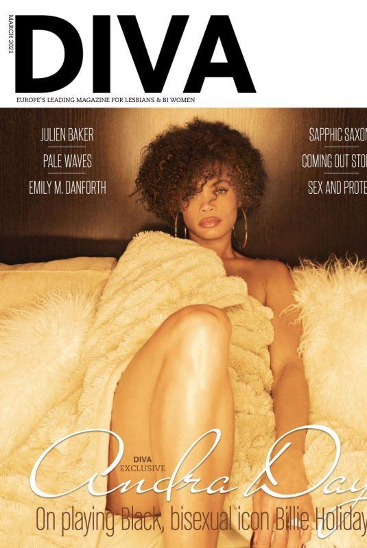 ANDRA DAY in Diva Magazine, UK March 2021