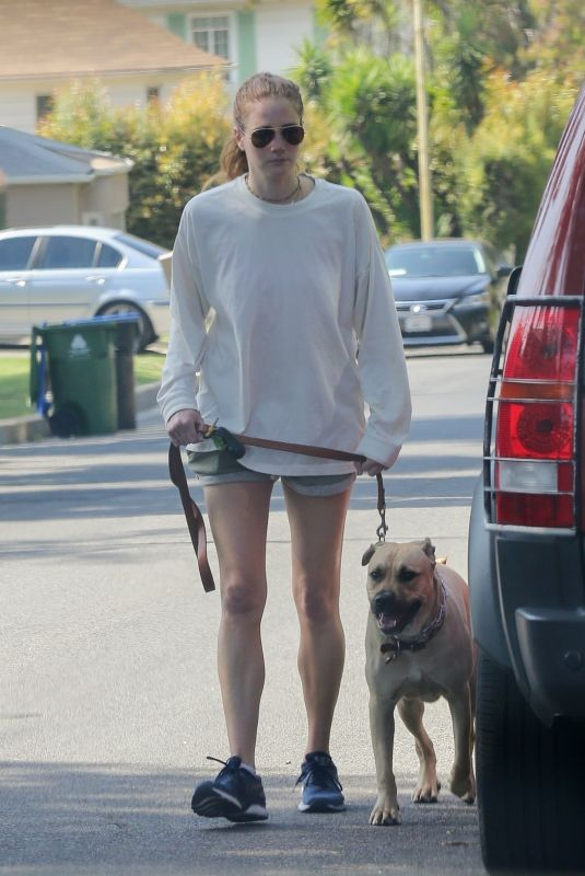 ANNA OSCEOLA Out with Her Dog in Los Feliz 05/22/2021