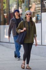ANNE HATHAWAY and Jared Leto on the Set of WeCrashed in New York 05/25/2021