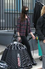 ANNE HATHAWAY on the Set of We Work in New York 05/11/2021