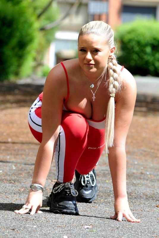 APOLLONIA LLEWELLYN Workout in a Park in Manchester 05/15/2021