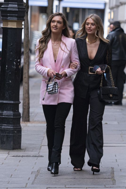 ARABELLA CHI and LORNA FLORENCE Out in London 05/08/2021