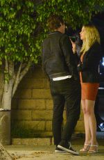 ASHLEY BENSON and Matthew Morton at a Dinner Date in Los Angeles 05/03/2021