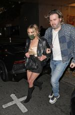 ASHLEY BENSON at Re-opening of Bootsy Bellows Night Club in West Hollywood 05/10/2021