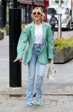 ASHLEY ROBERTS Arrives at Global Radio in London 05/04/2021