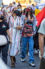 BELLA HADID at Palestinian Rally in New York 05/15/2021