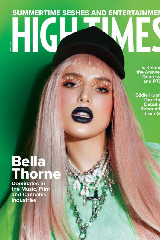 BELLA THORNE in High Times Magazin, June 2021