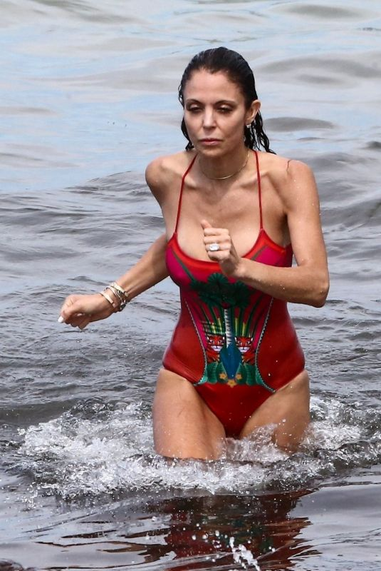 BETHENNY FRANKEL in Swimsuit at a Beach in Miami 05/30/2021