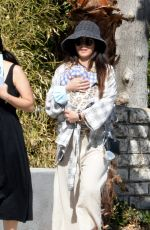 BRENDA SONG Out with Her Baby in Los Angeles 05/04/2021