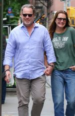 BROOKE SHIELDS and Chris Henchy Out in New York 05/16/2021