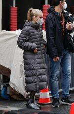 CAMILLE RAZAT on the Set of Emily in Paris in Paris 05/14/2021
