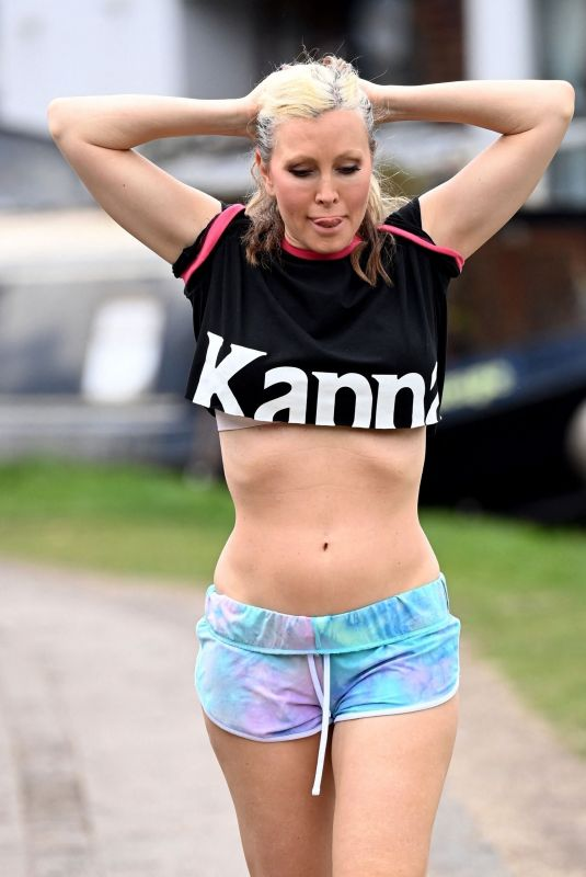 CAPRICE BOURRET Out Jogging in London 05/18/2021