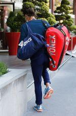 CAROLINE GARCIA Arrives at Her Hotel After Training at Roland Garros 05/29/2021