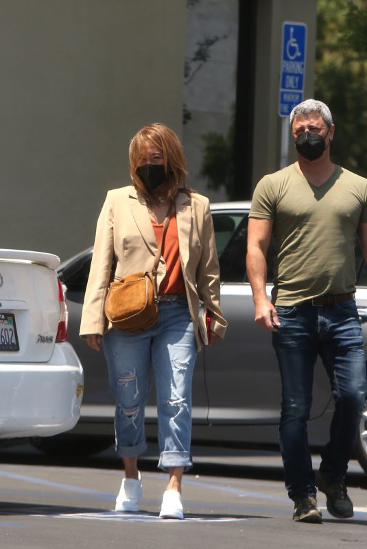 CARRIE ANN INABA and Fabien Viteri Out in Los Angeles 05/20/2021