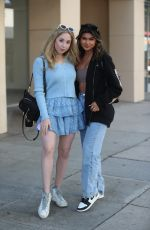 CARRIE BERK and TALIN SILVA at Urth Caffe in Beverly Hills 05/17/2021