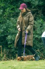 CHERYL COLE Out with Her Dog in Hertfordshire 04/28/2021