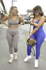 CHLOE FERRY and BETHAN KERSHAW in Tights at Doll Beauty HQ in Chester 05/06/2021