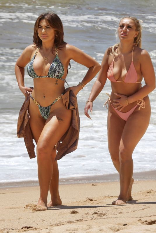 CHLOE FERRY and BETHN KERSHAW in Bikinis at a Beach in Portugal 05/30/2021