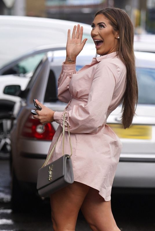 CHLOE FERRY Arrives at a Photo Studio in Newcastle 05/10/2021