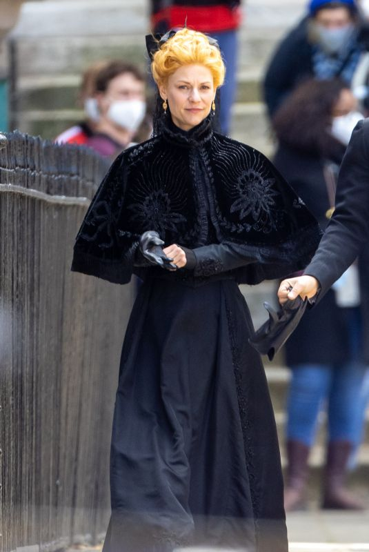 CLAIRE DANES on the Set of The Essex Serpent in London 05/10/2021