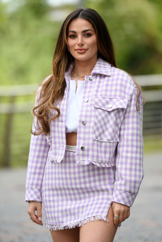 COURTNEY GREEN on the Set of The Only Way is Essex in Chelmsford 05/11/2021