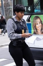 DANIELLE MONE TRUITT and AINSLEY SEIGER on the Set of Law and Order: Organized Crime 05/12/2021
