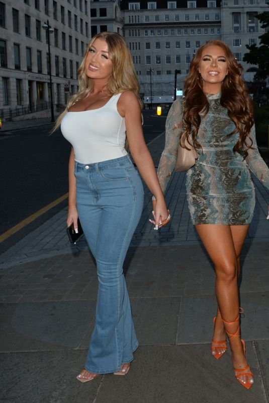 DEMI JONES and JESS and EVE GALE Night Out in London 05/27/2021