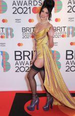 DUA LIPA at 2021 Brit Awards in London 05/11/2021