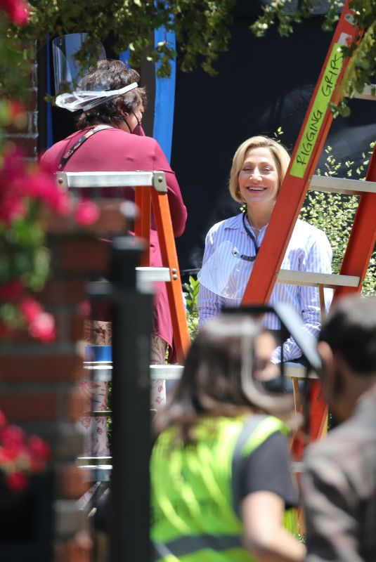 EDIA FALCO as Hillary Clinton on the Set of American Crime Story: Impeachment in Los Angeles 05/14/2021