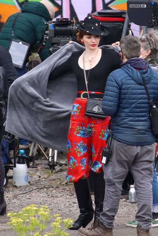 ELEANOR TOMLNSON on the Set of The Offenders in Bristol 04/27/2021