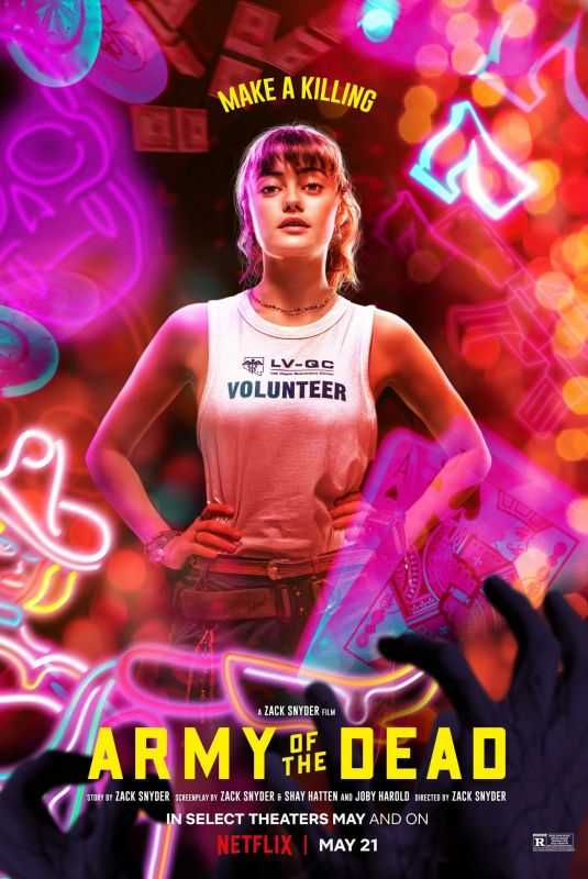 ELLA PURNELL – Army of the Dead, Posters 2021