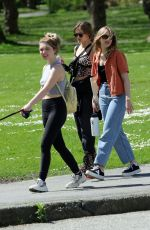 ELLA PURNELL, SAMMI HANRATTY and SOPHIE NELISSE Out in Vancouver 05/01/2021