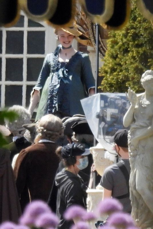ELLE FANNING on the Set of The Great in London 05/21/2021