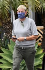 ELLEN DEGENERES Out for Coffee in Santa Barbara 05/03/2021